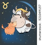 illustration of a zodiac signs... | Shutterstock . vector #521049157
