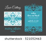 diy template for laser cutting. ... | Shutterstock .eps vector #521052463