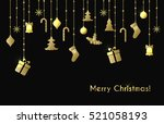 christmas vector greeting card... | Shutterstock .eps vector #521058193