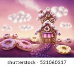 illustration of fantasy... | Shutterstock . vector #521060317