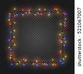 christmas colorful bulbs ... | Shutterstock .eps vector #521067007