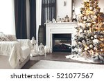 beautiful holiday decorated... | Shutterstock . vector #521077567