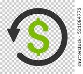 chargeback icon. vector... | Shutterstock .eps vector #521084773