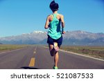 healthy lifestyle young fitness ... | Shutterstock . vector #521087533