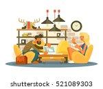 coworking office work | Shutterstock .eps vector #521089303