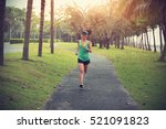 young fitness sports woman... | Shutterstock . vector #521091823