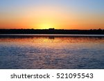 sunset reflection on the... | Shutterstock . vector #521095543