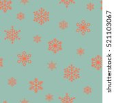 red snowflakes on a blue... | Shutterstock .eps vector #521103067