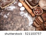fresh bread still life bakery... | Shutterstock . vector #521103757