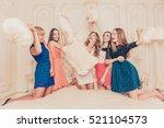girls celebrate a bachelorette... | Shutterstock . vector #521104573