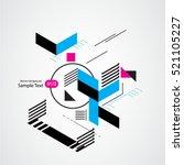 abstract geometric vector... | Shutterstock .eps vector #521105227