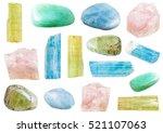 Set Of Various Beryl Mineral...