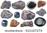 Set Of Various Hematite Minera...