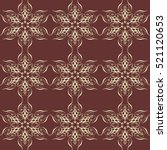 ornate frame elements. vector... | Shutterstock .eps vector #521120653