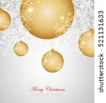 merry christmas and happy new... | Shutterstock .eps vector #521131633