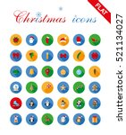 christmas icons set for web and ... | Shutterstock .eps vector #521134027