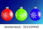 set of christmas balls | Shutterstock .eps vector #521134963