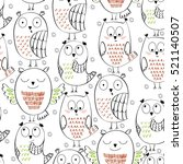 vector seamless pattern with... | Shutterstock .eps vector #521140507