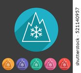 snow tire mountain snowflake... | Shutterstock .eps vector #521140957