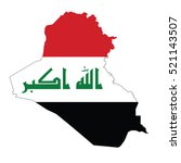 flag map of iraq | Shutterstock .eps vector #521143507