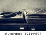 music old fashioned phonograph...   Shutterstock . vector #521144977