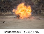 fire and movement of car part... | Shutterstock . vector #521147707