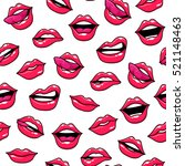 seamless pattern with fashion... | Shutterstock .eps vector #521148463