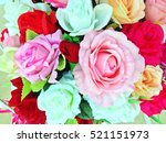 Colorful Of Artificial Flowers...