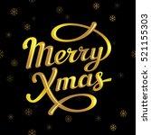 merry christmas lettering card   Shutterstock .eps vector #521155303