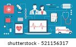 healthcare  doctors  emergency...   Shutterstock .eps vector #521156317