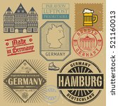 travel stamps or symbols set ... | Shutterstock .eps vector #521160013