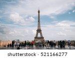 eiffel tower. paris. france.... | Shutterstock . vector #521166277