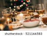 christmas dinner is served   Shutterstock . vector #521166583
