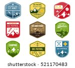 set of ski club  patrol labels. ... | Shutterstock . vector #521170483