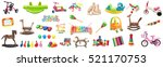 a big collection of toys for... | Shutterstock . vector #521170753