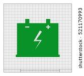 car battery flat vector icon... | Shutterstock .eps vector #521170993