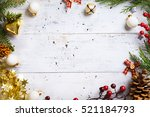 christmas holidays background... | Shutterstock . vector #521184793