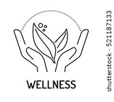 wellness line icon | Shutterstock .eps vector #521187133