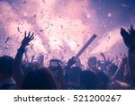 silhouette hands of audience... | Shutterstock . vector #521200267