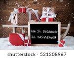 chalkboard with german text am... | Shutterstock . vector #521208967