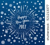 happy new year 2017 greeting... | Shutterstock .eps vector #521213377