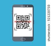 scan qr code with smartphone.... | Shutterstock .eps vector #521220733