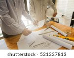 architect discuss with engineer ... | Shutterstock . vector #521227813