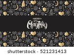 merry christmas and happy new... | Shutterstock .eps vector #521231413