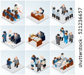 isometric icons. various... | Shutterstock . vector #521236657