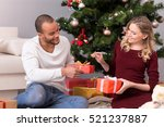 positive delighted couple... | Shutterstock . vector #521237887