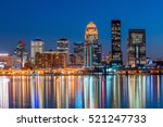 Small photo of View of Skyline downtown Louisville in Kentucky USA