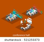 business meeting in an office... | Shutterstock .eps vector #521253373