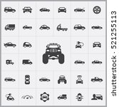 monster car icon. car icons... | Shutterstock .eps vector #521255113