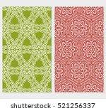set of ornamental flower design.... | Shutterstock .eps vector #521256337